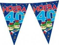 Vlaggenlijn Hoera 40 Jaar 6 m Vlaggenlijn Hoe