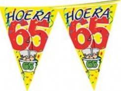 Vlaggenlijn Hoera 65 Jaar 6 m Vlaggenlijn Hoe