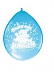 Ballon 30cm. Hoera Een Jongen /8st Ballon 30cm. Hoe