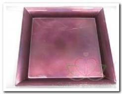Onderbord Purple metallic 29*29 cm. vierkant KORTING zie omschrijving