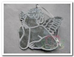 Metalen Hanger Engel 7x8 cm. Metalen Hanger