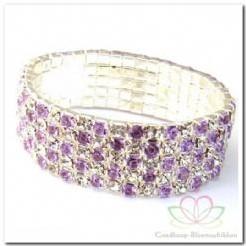 Polsarmband 5 rijen purple/ zilver Polsarmband 5 r