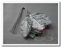 Brokaat bladeren zilver blaadjes 28x44 mm Brokaat bladere