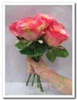 Roos zijdebloem roze-pink 30*8 / tak Roos zijdebloem-2