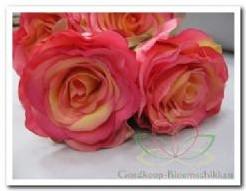 Roos zijdebloem roze-pink 30*8 / tak Roos zijdebloem