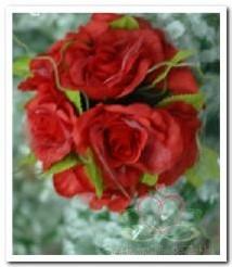 bloemenbal Pomander RoseBall rood nr 11 bloemenbal Pomander RoseB