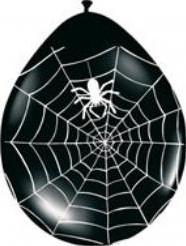 Ballon 30cm. Spinneweb 8 stuks Ballon 30cm. Spi