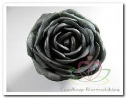foam roos Anthr/Zwart - glitter 7 cm. foam roos Anthr