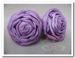 foam rose Lila 9*6cm. / 2 stuks foam rose Lila