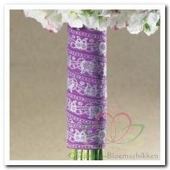 Wrap Jasmin, Lavendel with silver Wrap Jasmin, La