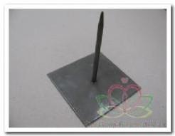 Metaalstaander Metalen pin standaard SOLID +/- 13 cm wit