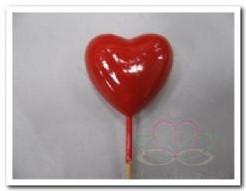 Hart rood 4 cm, zak +/- 12 stuks Hart rood 4 cm,