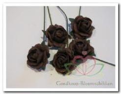 Mulberry Roosjes Choc. bruin10-15 mm / PAK Mulberry Roosje