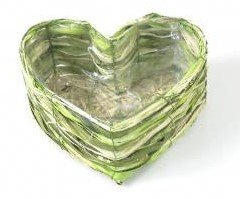 Hartvorm maisblad 17*9 cm. op=op Hartvorm maisbl