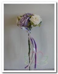 Bruidsmeisjesboeketje Wit Lila BMB1 Bruidsmeisjesboeketje Wi