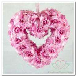 Hart open met rose zijderozen IP1405 Hart open met