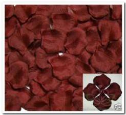Blad zijde blaadjes Claret Warmbruin rozenblaadjes Blad zijde blaadjes Clare