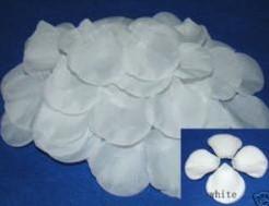 Blad zijde blaadjes Puur Wit rozenblaadjes / pakje Blad zijde blaadjes Puur