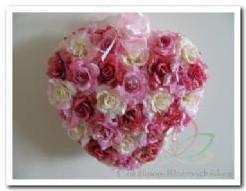Hart Rose-Pink 3 tinten glitter dicht Hart Rose-Pink