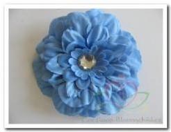 'Blauwe zijdebloem Gerbera strass 4''' Blauwe zijdebloem Gerbera