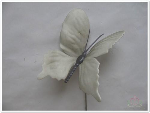 Vlinders van foam Grijs 6 cm. Doos 36 stuks Vlinders voor Corsage