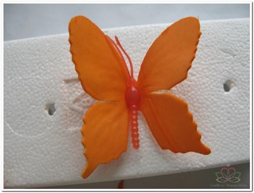 Vlinders van foam Oranje 6 cm. Doos 36 stuks Vlinders voor Corsage