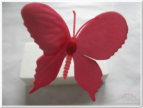 Vlinders van foam PINK 6 cm. Doos 36 stuks Vlinders voor Corsage