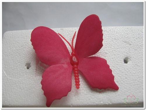Vlinders van foam Fuchsia 6 cm. Doos 36 stuks Vlinders voor Corsage