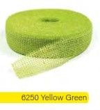 Jute band Juteband Jutte Yellow Green Lime rol 40m 5 cm. br Jute band