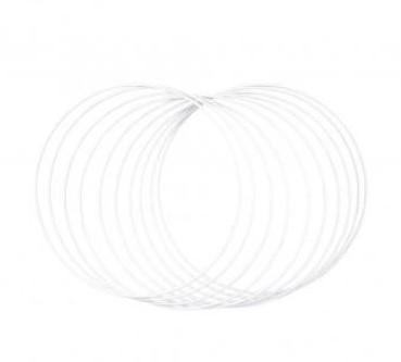 Metalen ringen 25cm ø, box 10st., wit grootverpakking doos 10st