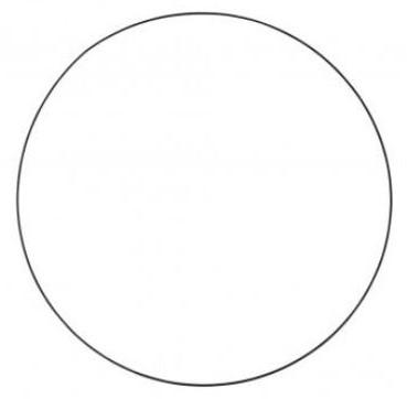 Metalen ring 60 cm zwart gelakt Grote ring