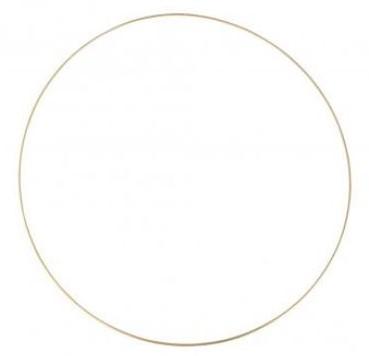 Metalen ring 60 cm goud gelakt Grote ring
