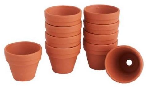 Terracotta Terra cotta potjes doos 10 stuks binnenmaat 6cm Terracotta potjes