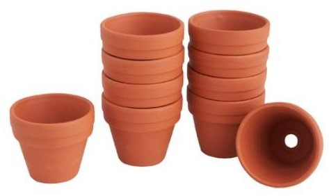 Terracotta Terra cotta potjes doos 10 stuks binnenmaat 8 cm Terracotta potjes