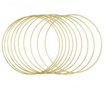 Metalen ringen 25cm ø, box 10st GOUD grootverpakking doos 10st