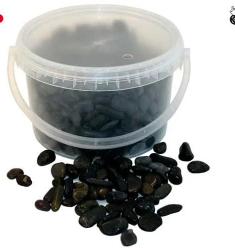 Natuursteentjes 3.8kg 5-8mm Black Stones Emmer zwarte steentjes