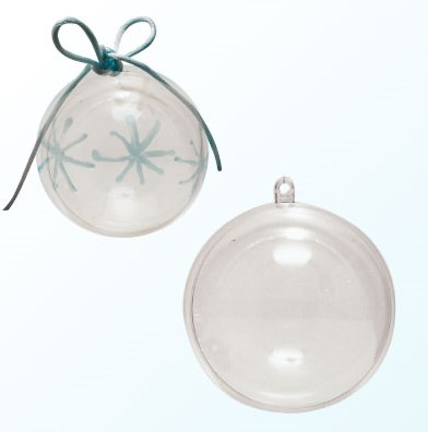 Bal, plastic. Deelbaar 5 cm. Clear Bal, plastic. Deelbaar 5