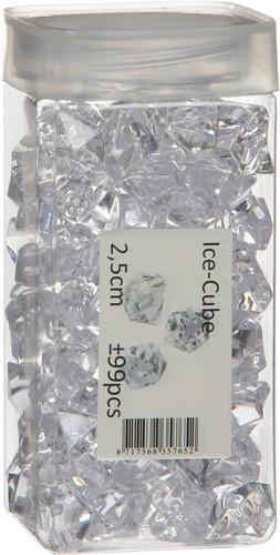 Acrylic stones clear 2, 5cm. +/-99 st Acrylic stones clear 2, 5