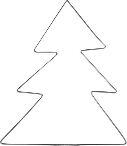 Draadboom 23*28 cm. st kerstboomvormig frame