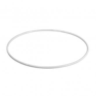 Metalen ring gelakt, WIT 50 cm. Enkele ring