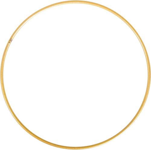 Metalen ring 25 cm goud gelakt Enkele ring