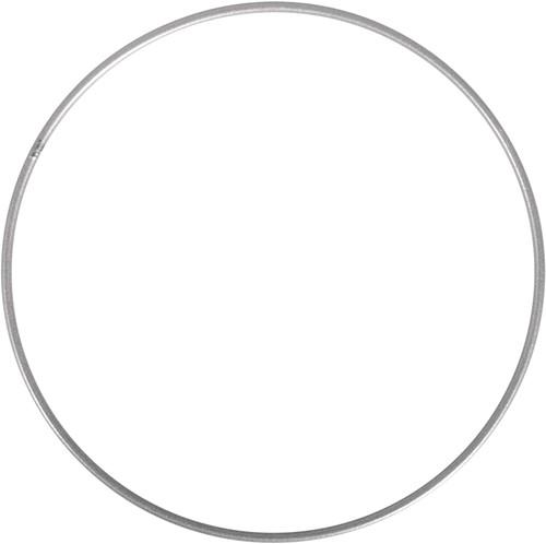 Metalen ring 30 cm Zilver gelakt Enkele ring
