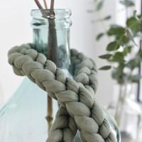 Strickschlauch Knitted tube Jade 130 voor dik knoop en vlechtwerk-3