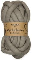 Strickschlauch Knitted tube Grey 21 voor dik knoop en vlechtwerk