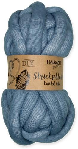 Strickschlauch Knitted tube Dusty Blue 421 voor dik knoop en vlechtwerk