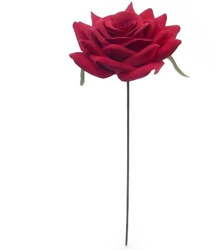 25 cm. Single Diamondrose Rood DOOS48 st Flowerwall bruidsboeket