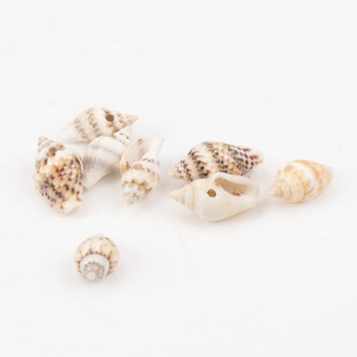 Leopardprint schelpen met klein gaatje voor sieraden +/- 50st +/-10-16 mm kleine schelpjes voor sieraden  -3