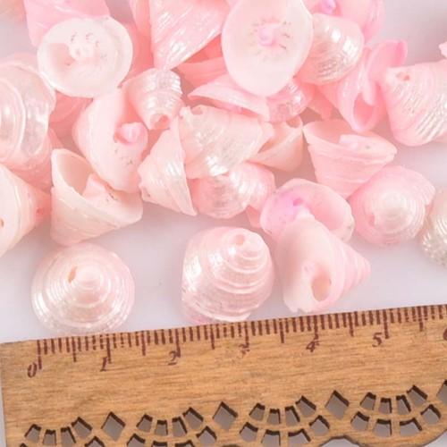 Pink Natural Spiral Conch met klein gaatje voor sieraden +/- 30st 13-15mmschelpjes voor sieraden  -2