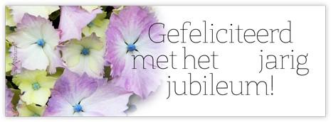 BloemenkaartjeGefeliciteerd met het jarig jubileum! Bloemenkaartje