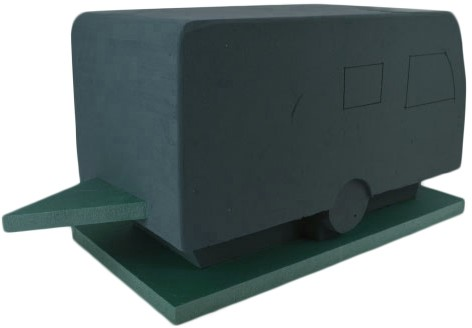 Caravan steekschuimvorm 3D caravan steekschuim